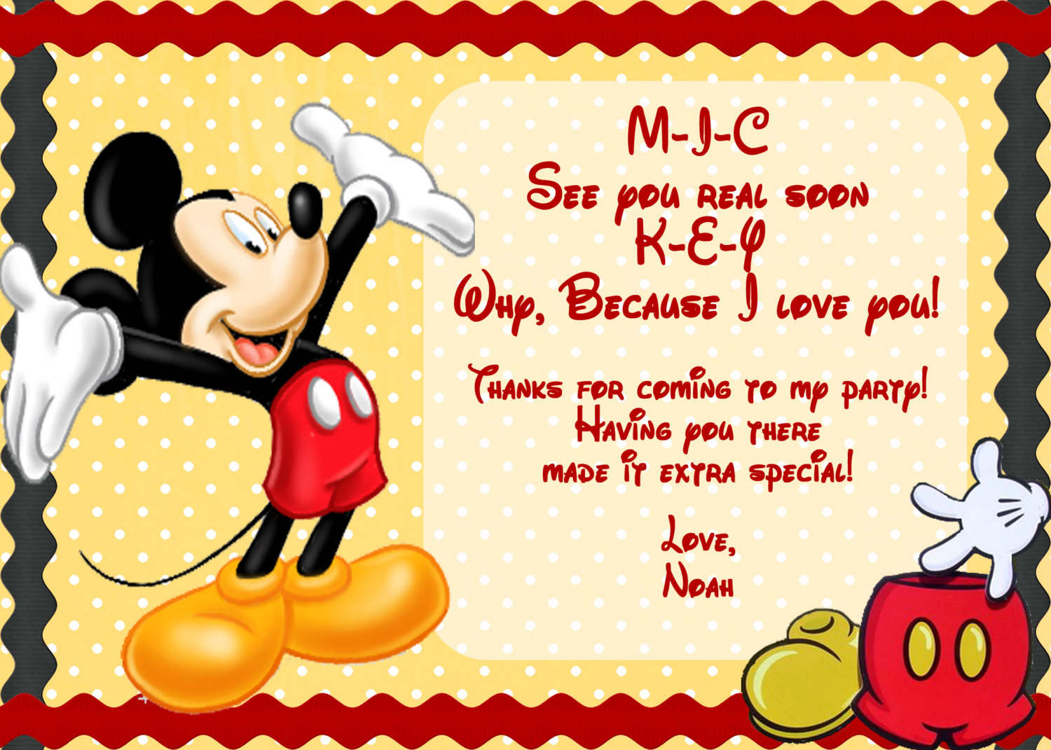 mickey mouse birthday invitations template free - Etame.mibawa.co