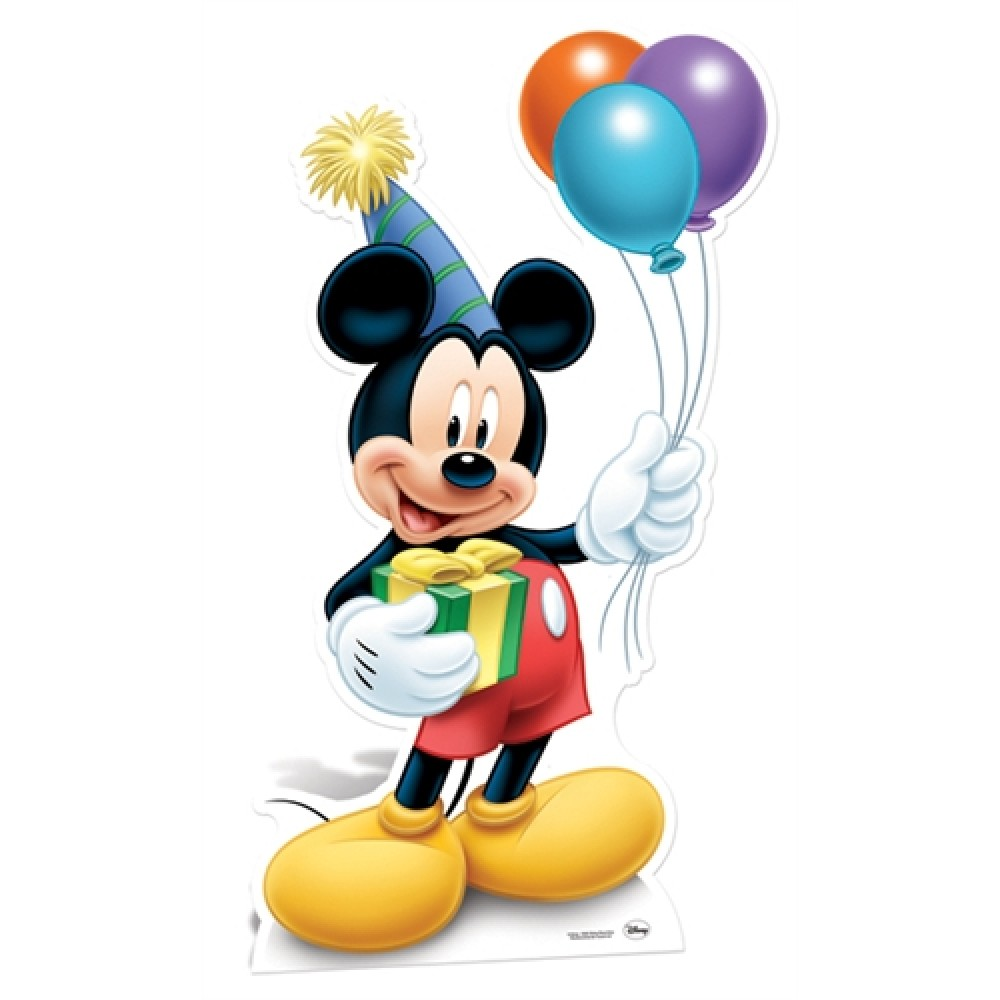 personnage taille reel mickey mouse anniversaire