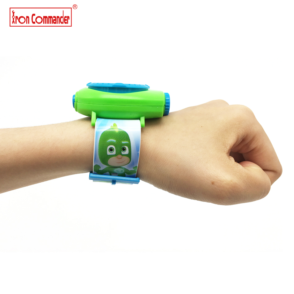 Iron-Commander-20pcs-20-Images-3D-Cartoon-PJ-Masks-Student-Watches-Kids-Projection-Watch-Educational-Toys