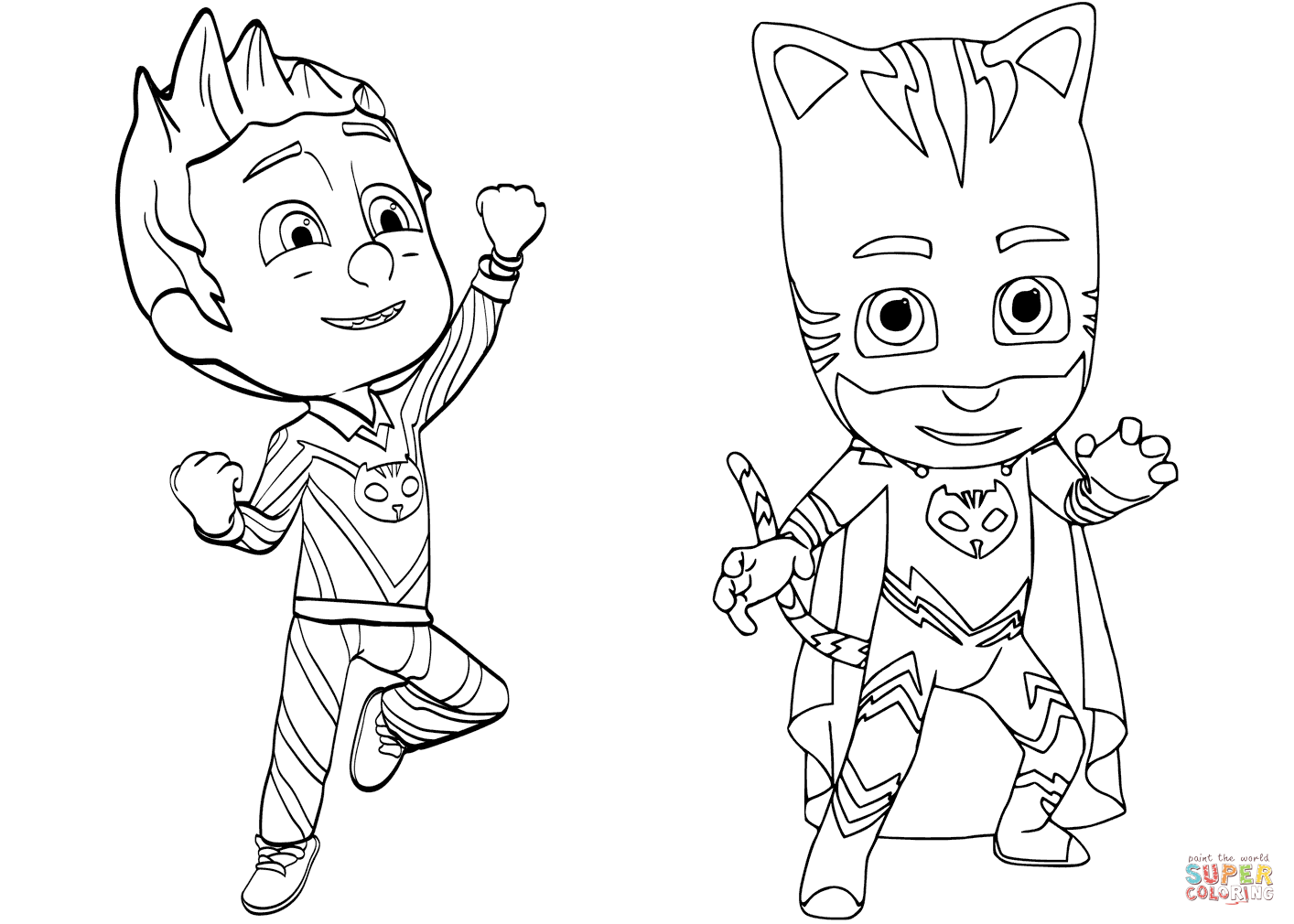 pajama-hero-connor-is-catboy-from-pj-masks-coloring-pagepj-masks-to-colour-