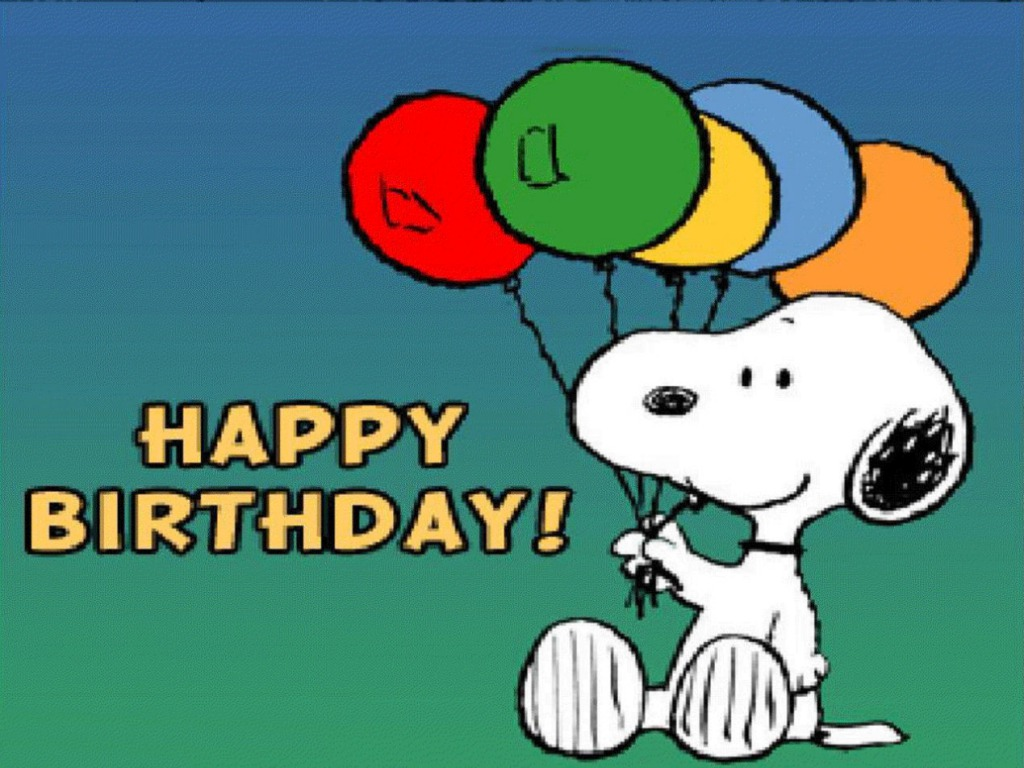 Snoopy Happy Birthday HD wallpaper