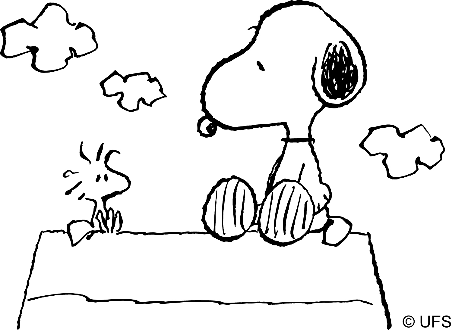 snoopy drawing