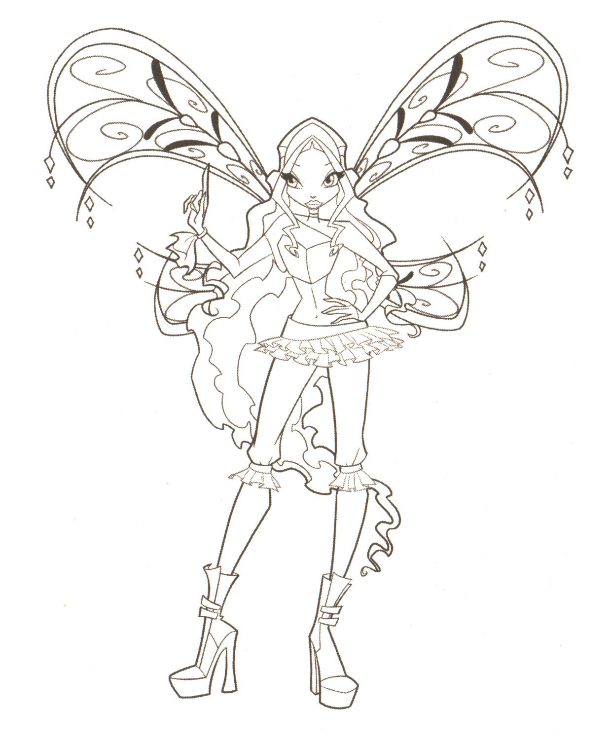 Winx Club Coloring Pages