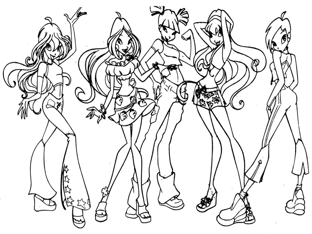 Winx club printable coloring pages picture, Winx club printable ...