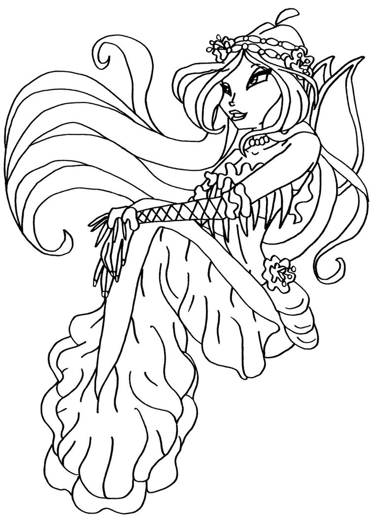 winx club coloring free kids