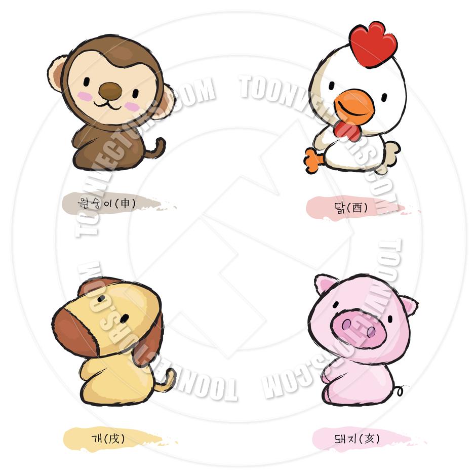 Baby Animals Cartoon  Electrical Schematic