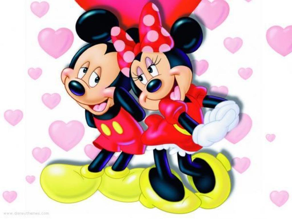 minnie love mickey