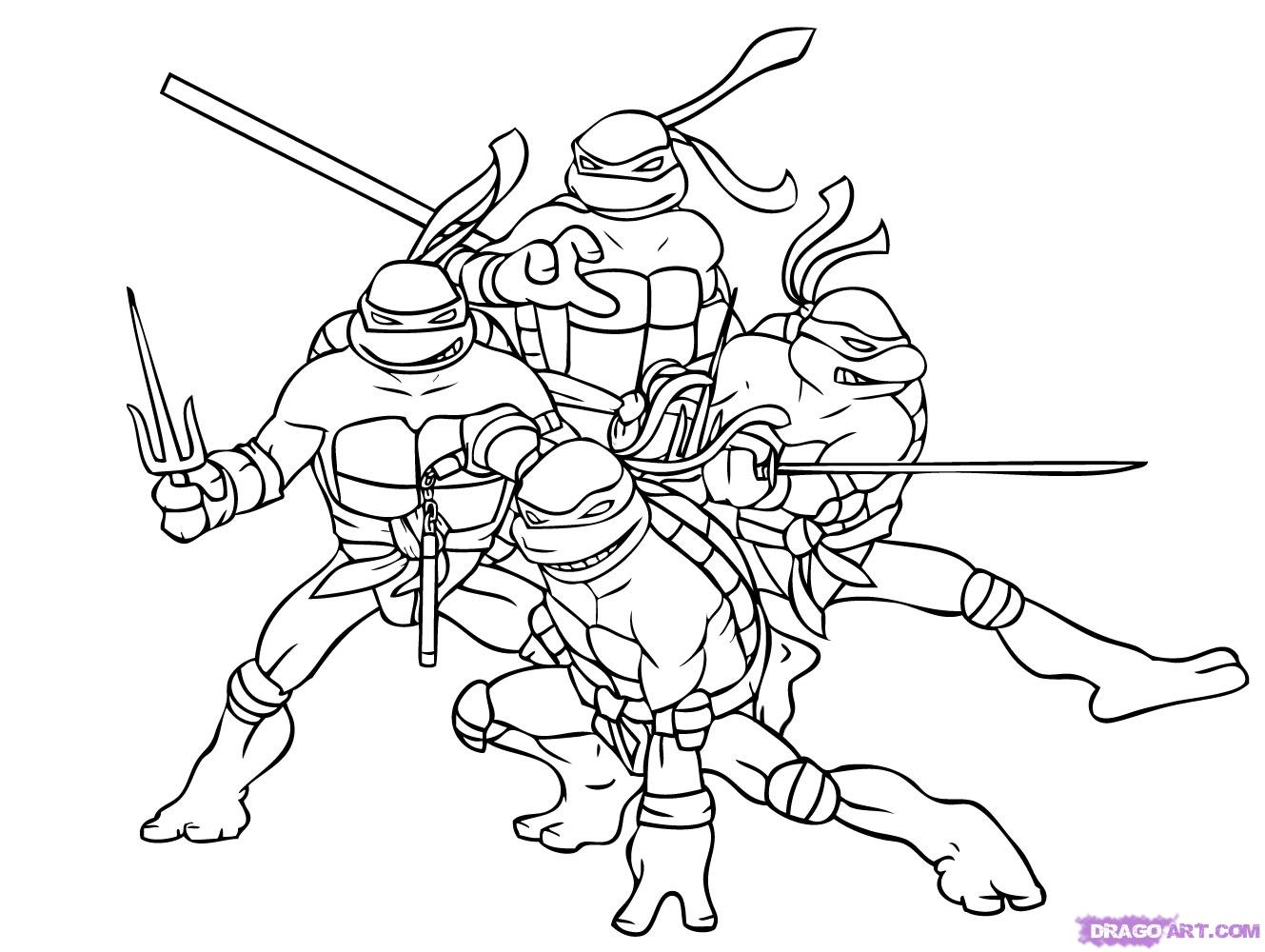 free draw ninja turtles