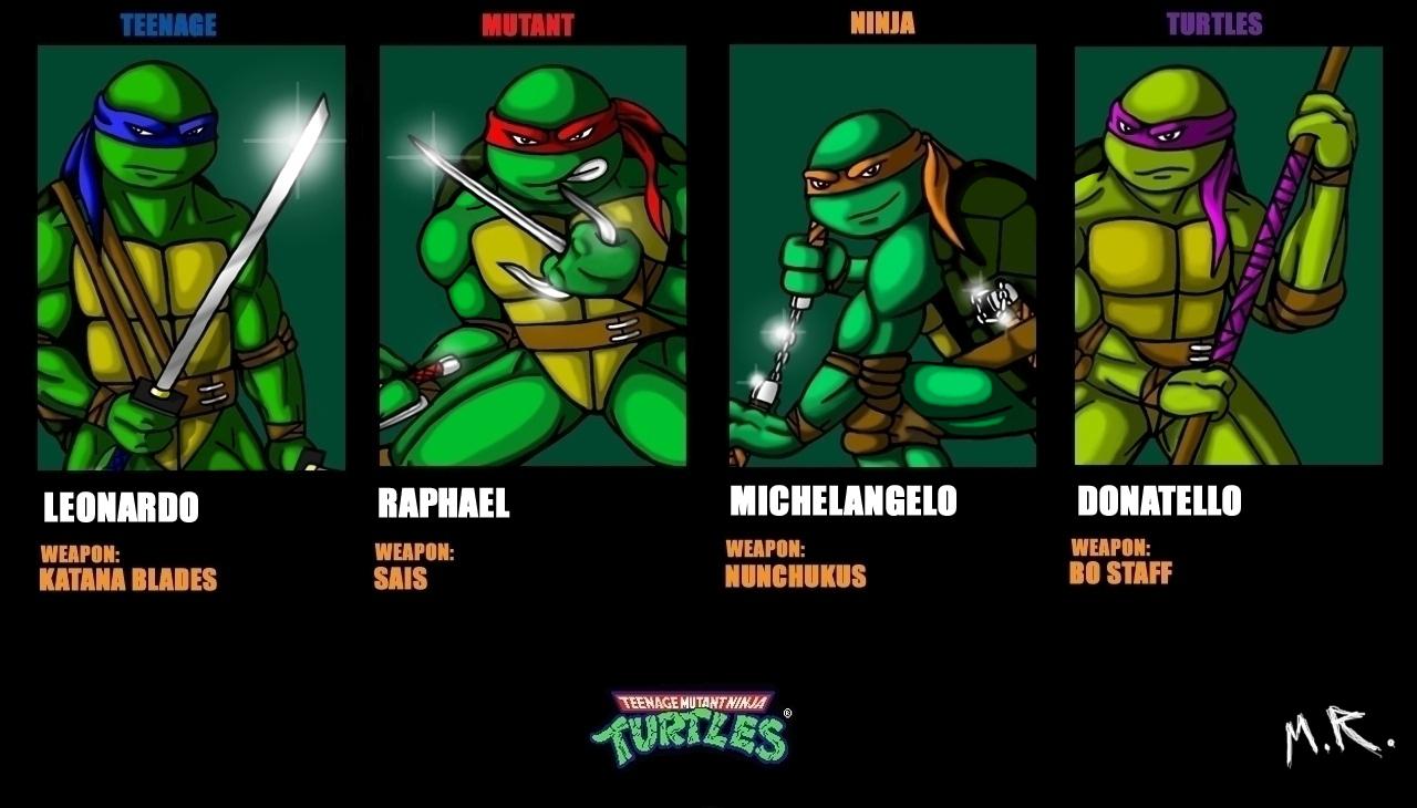 Teenage Mutant Ninja Turtles Names And Pictures  Teenage Mutant ...