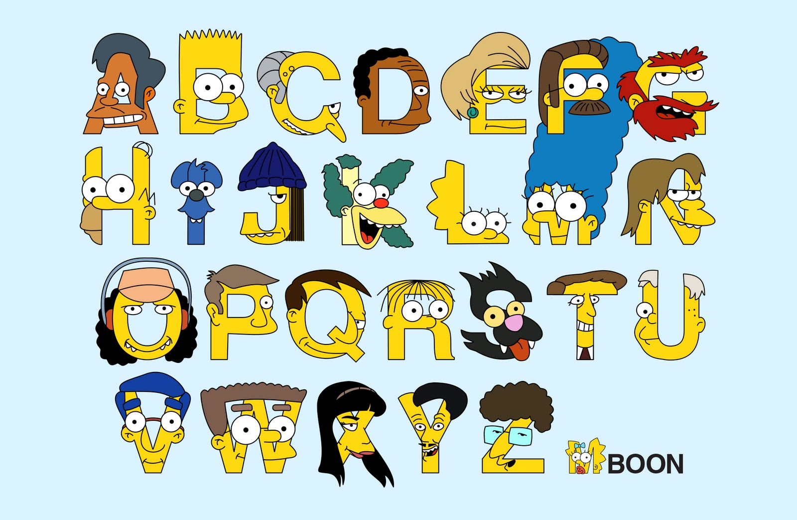 Simpson Characters  Letters
