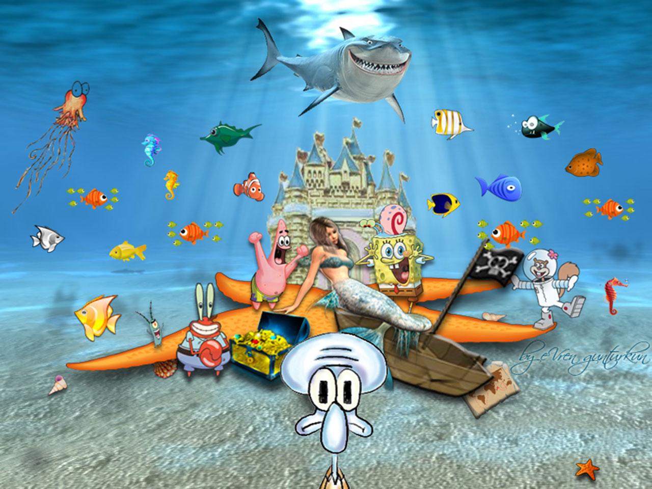 spongebob squarepants characters wallpaper picture spongebob