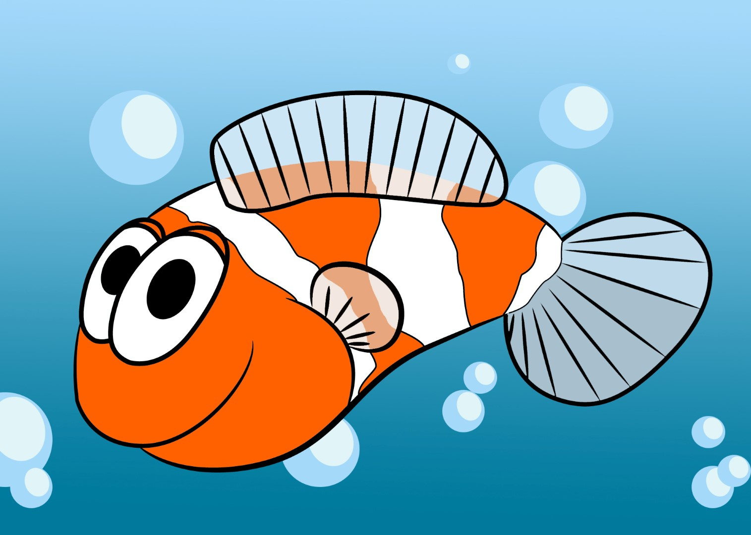 cartoon clown fish