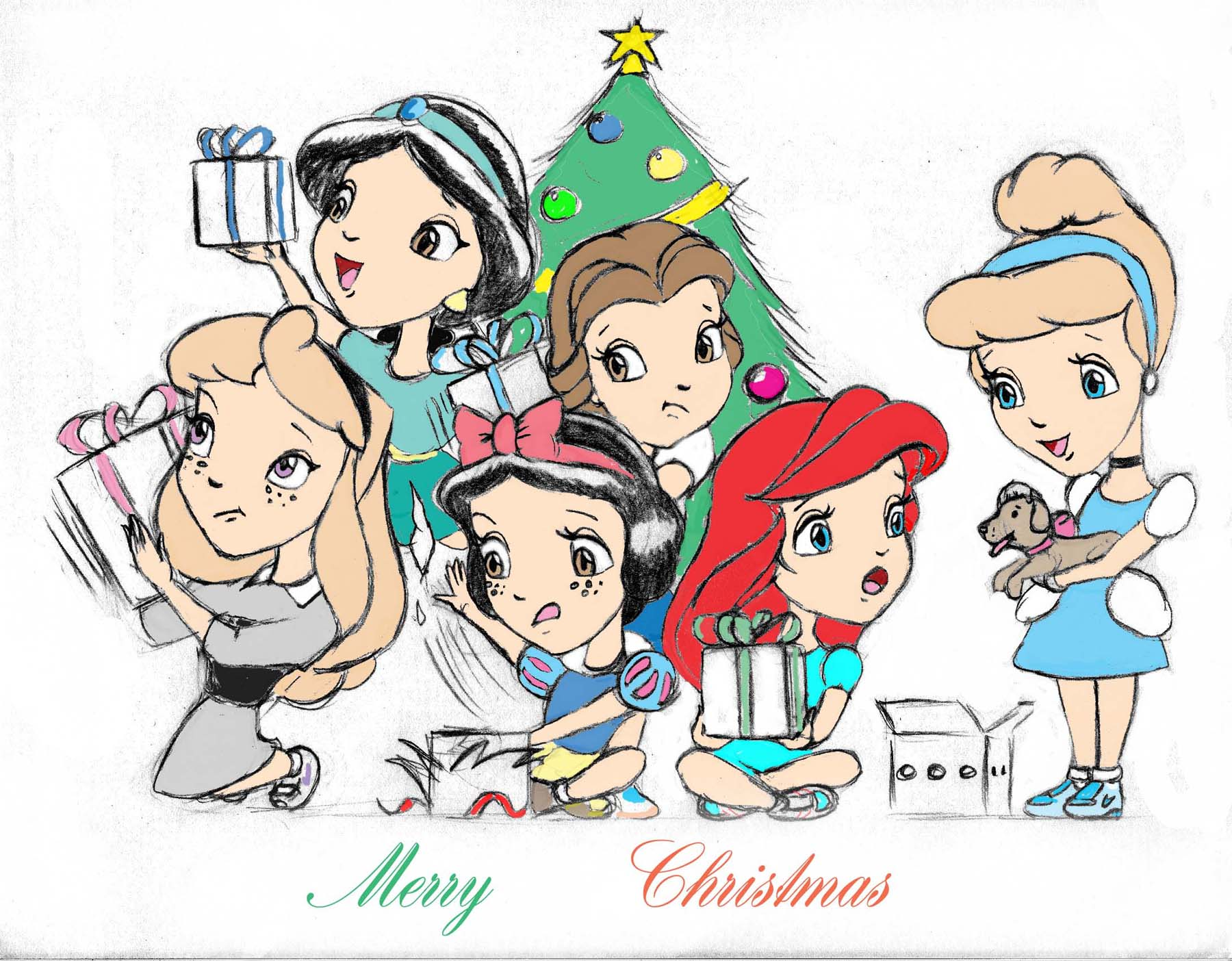 Disney Princess Kids Christmas