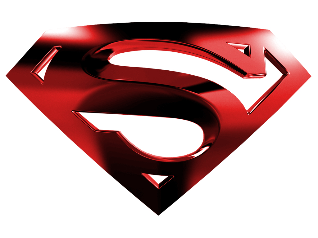 Superman Logo with White