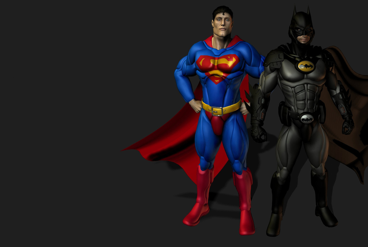 batman and superman cartoon wallpaper - photo #46