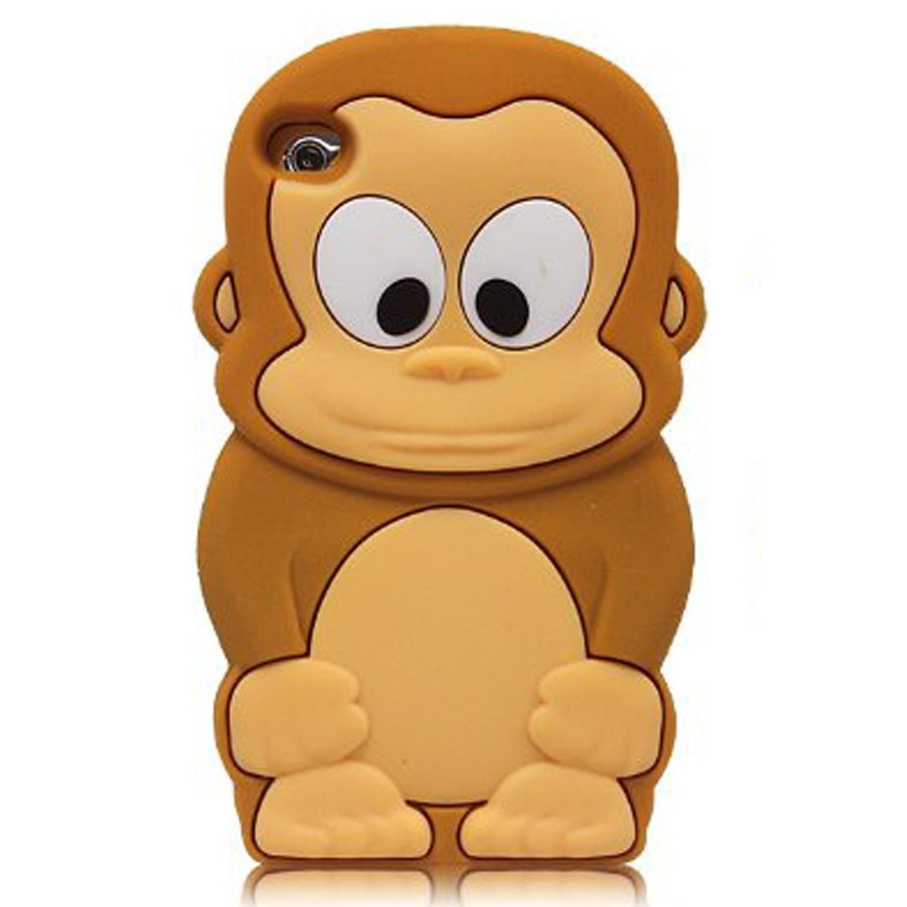 cartoon monkey soft silicone skin case