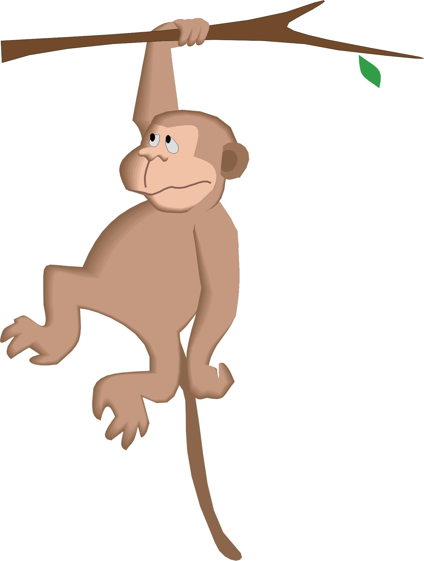 Animated Hanging Monkey