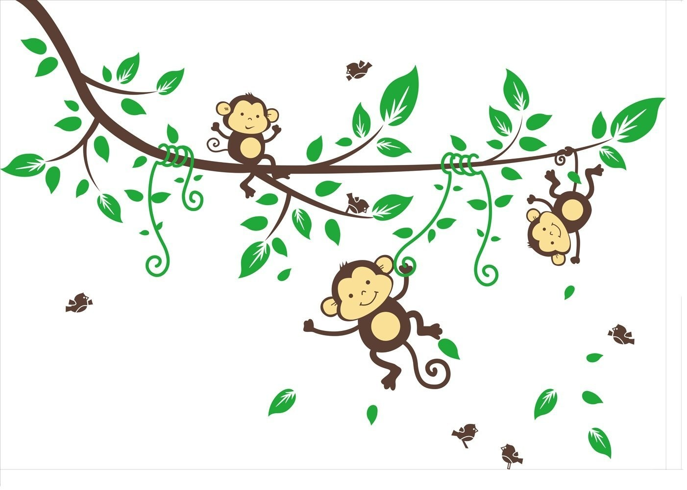 Monkey Cartoon Tree Three Playing On Picture