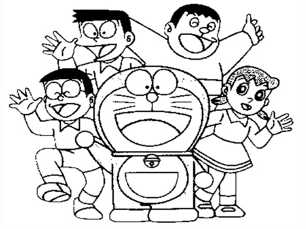 Doraemon nobita coloring pages picture doraemon nobita for Doraemon immagini da colorare