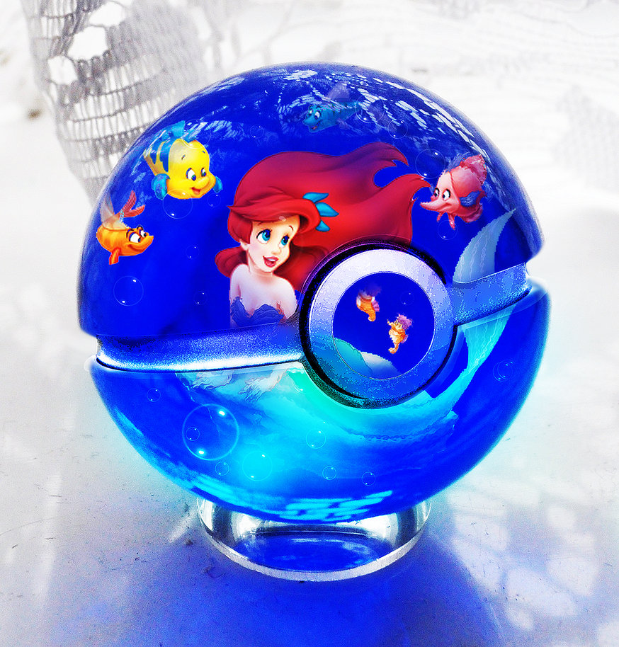 the pokeball of the little mermaid