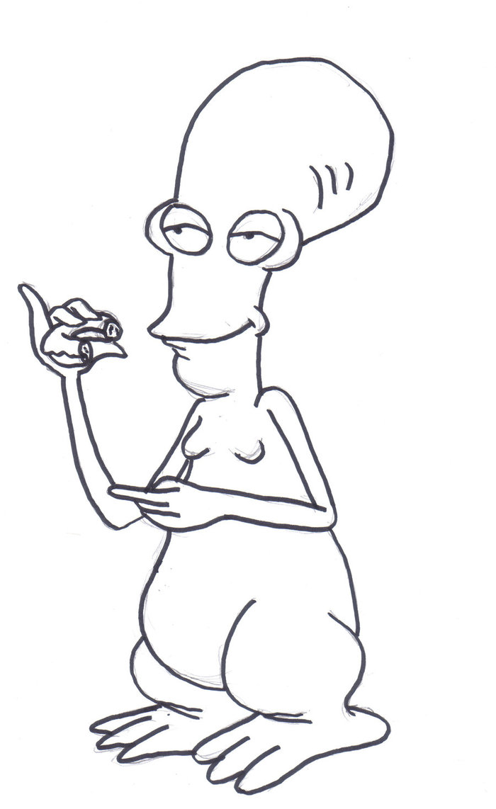 roger from american dad colouring picture roger from american dad