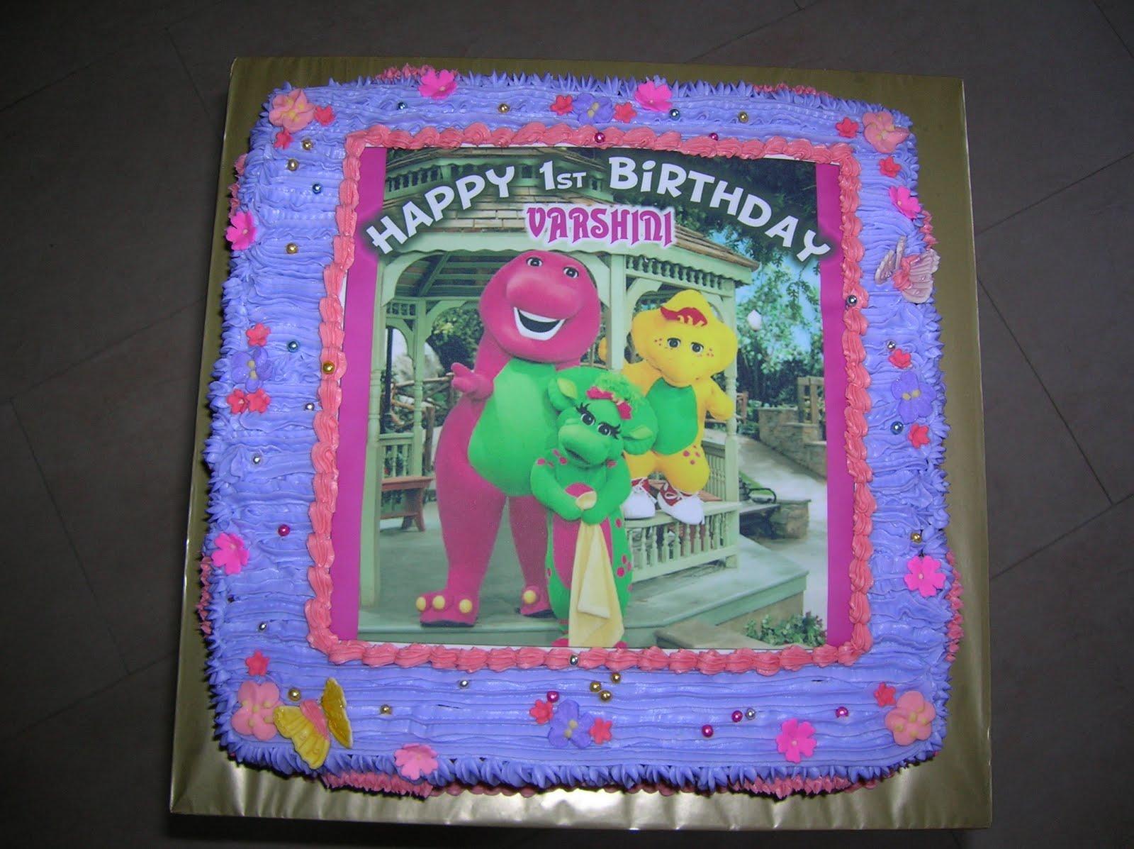 Barney Birthday Cake Picture Barney Birthday Cake Wallpaper