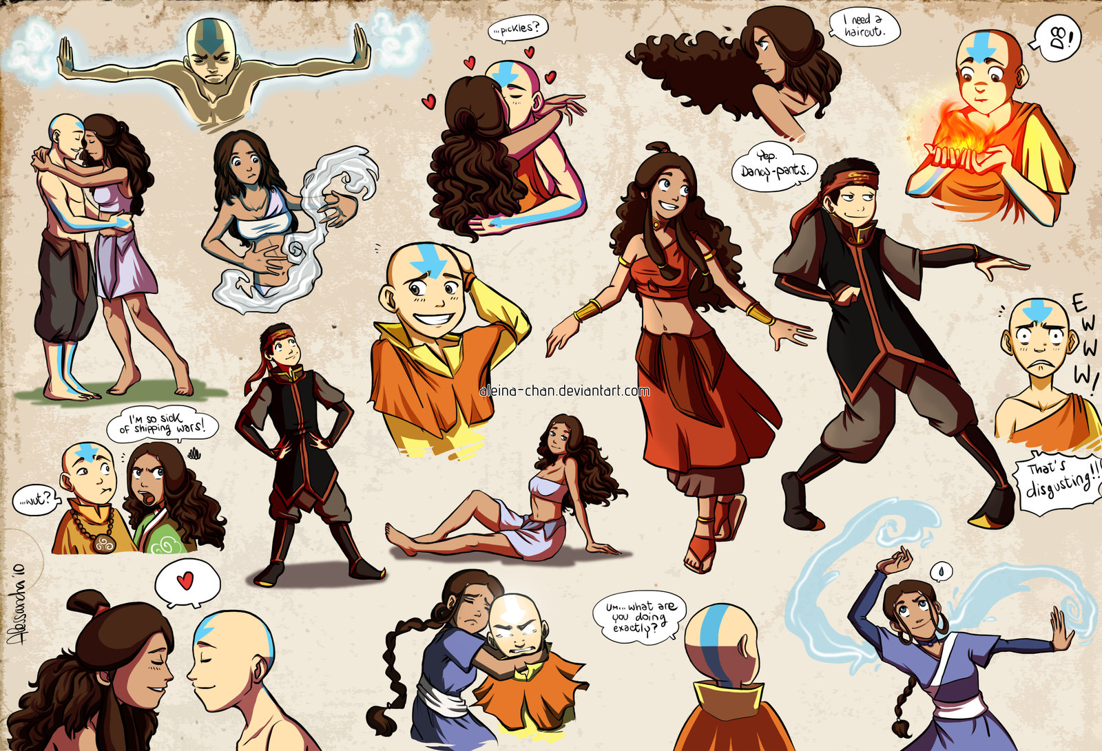aang and katara collection