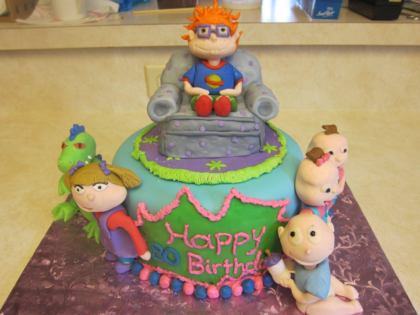 Terrific Rugrats Birthday Cake Picture Rugrats Birthday Cake Wallpaper Funny Birthday Cards Online Necthendildamsfinfo