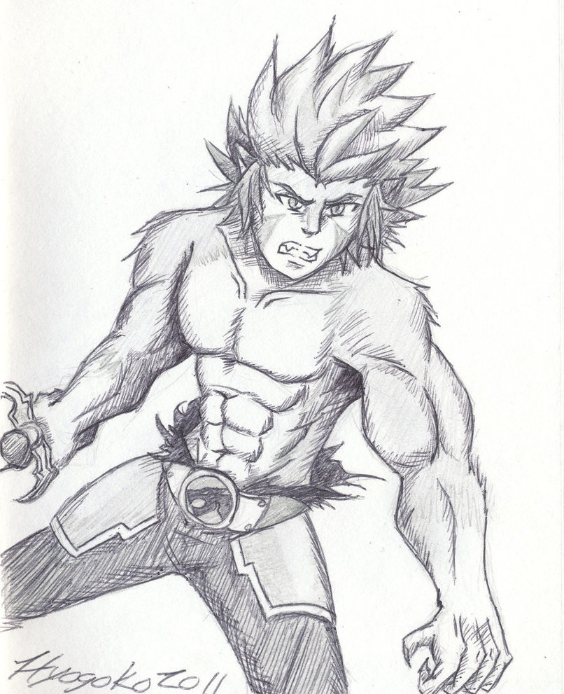 lion sketch thundercats