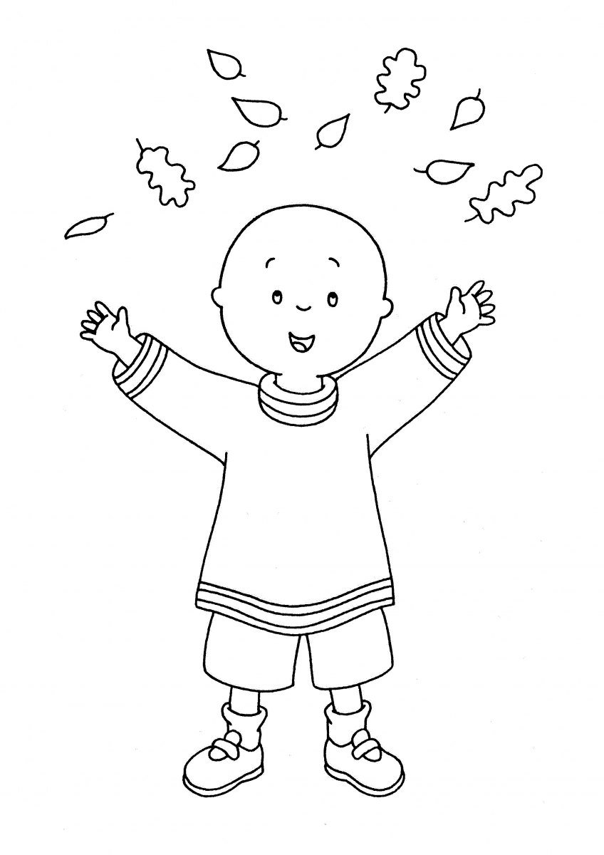 caillou coloring page