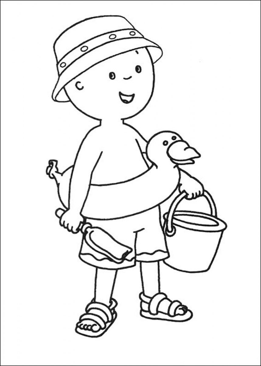 Caillou colouring