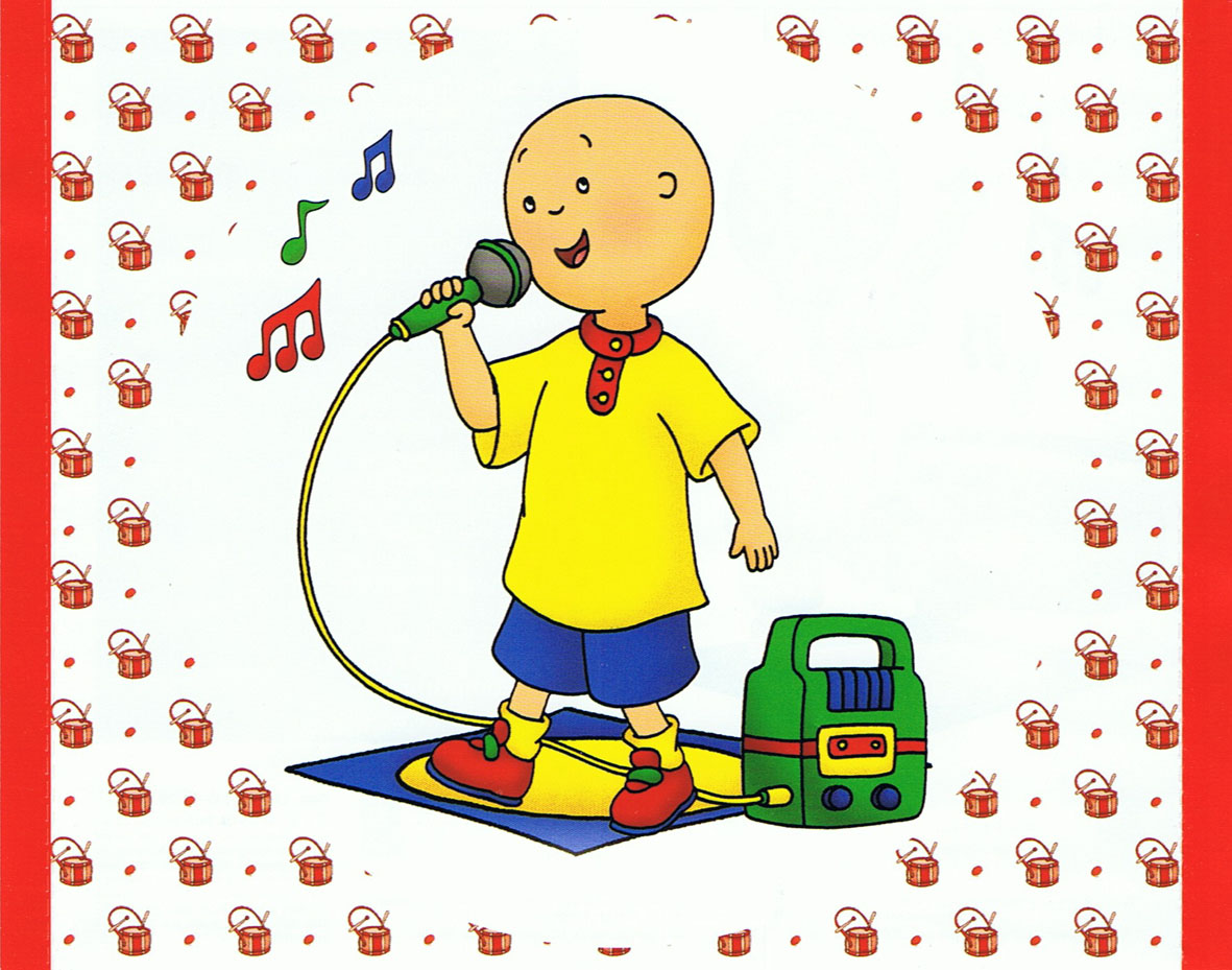 Caillou singing