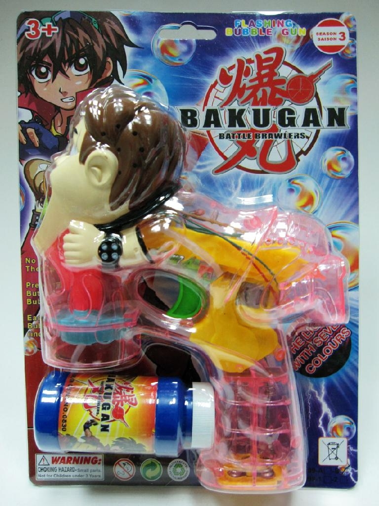 BAKUGAN WITH FLASHING MUSIC BUBBLE GUN
