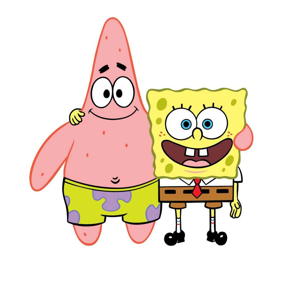 patrick star spongebob shape