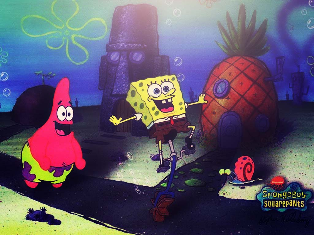 spongebob squarepants and patrick star wallpaper