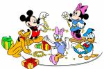 wallpaper mickey mouse minnie mouse daisy duck and donald duck