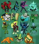 Ben 10 team cartoon