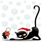 Funny Christmas Cat Cartoon hd
