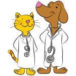 photo cartoon dog catvet