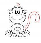 how to draw cartoon monkey
