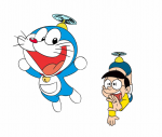 doraemon and nobita fly