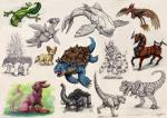 realistic pokemon sketches