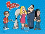 american dad blue background