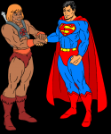 he man and superman
