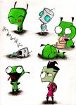 invader zim sketches