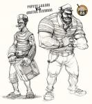 Popeye and brutus coloring