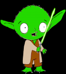 stewie griffin as master yoda