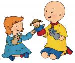 caillou rosie play